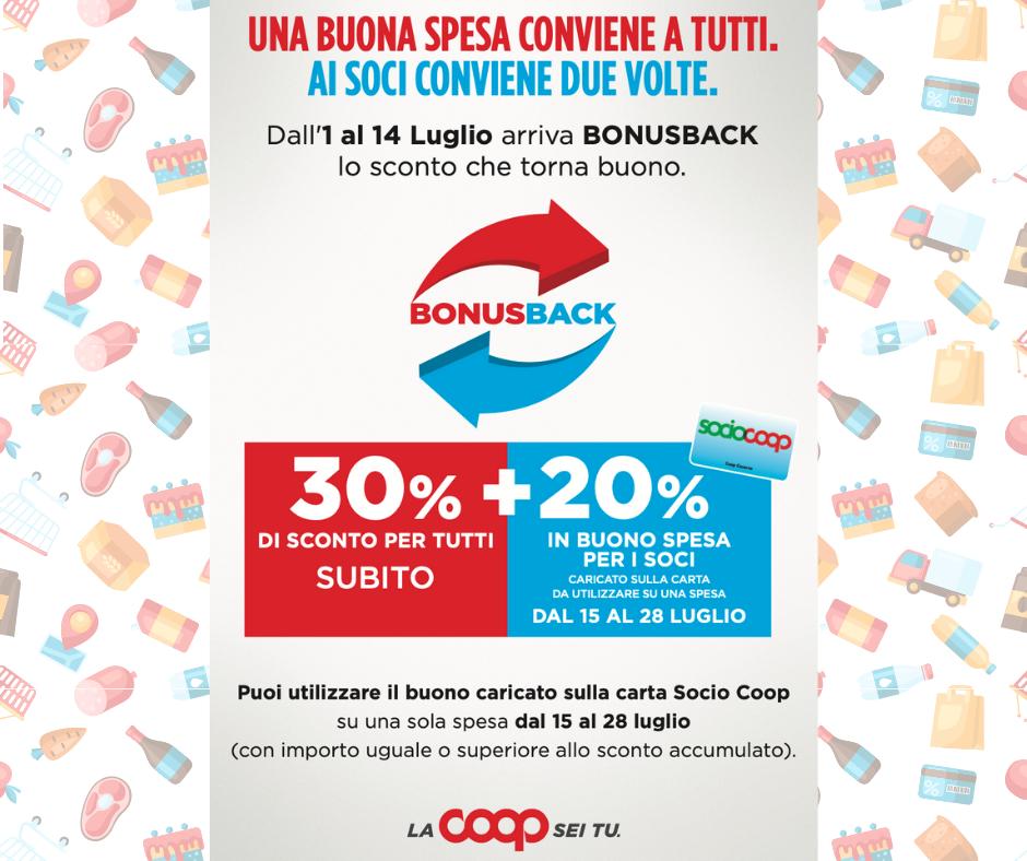 Coop Casarsa sconto bonus back